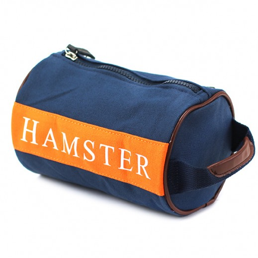 Hamster Mens Small Handbag Navy Blue/Orange