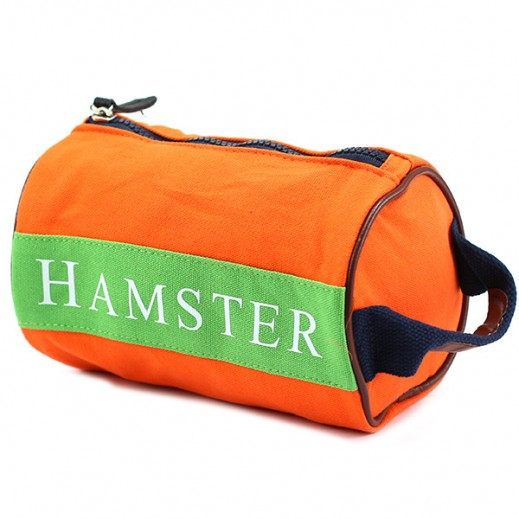 Hamster Mens Small Handbag Orange/Green