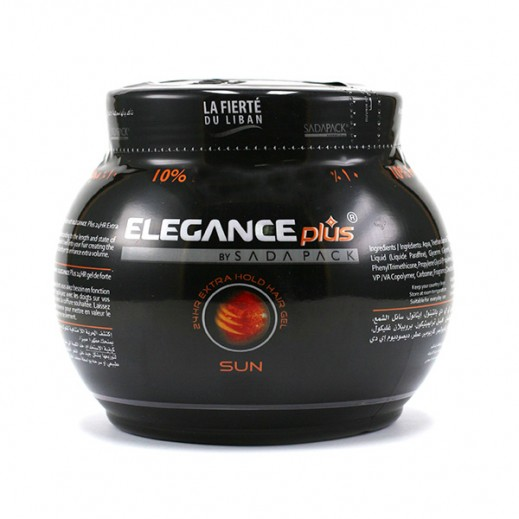 Elegance Plus 24Hr Extra Hold Hair Gel Sun 1 Ltr