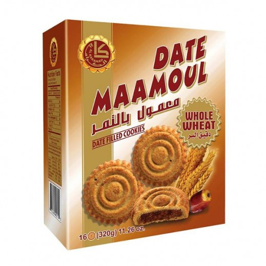 Alkaramah Whole Wheat Date Maamoul 320g