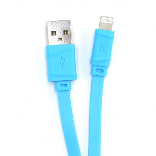 Hoco Bamboo Lightning Cable 1m Blue