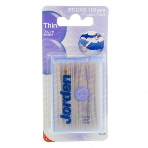 Jordan Dental Sticks Thin 100 pcs
