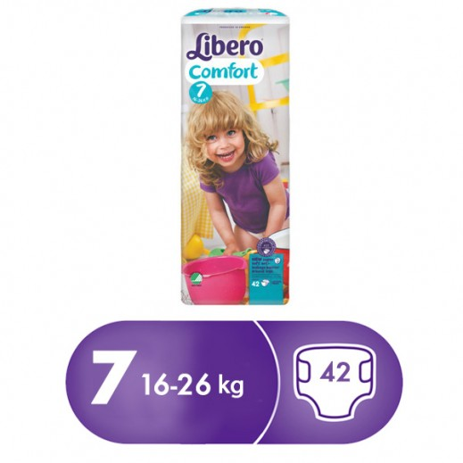 Libero Comfort Fit Diapers Size 7 (16 - 26 kg) 42 Pcs