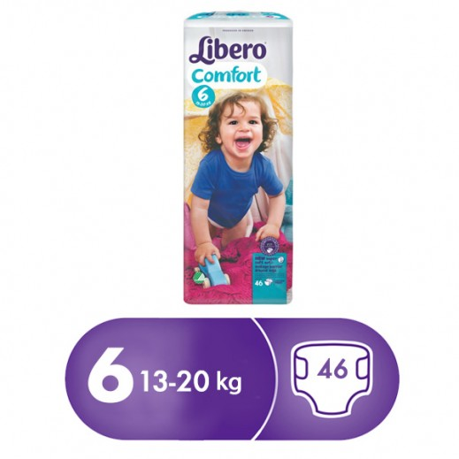 Libero Comfort Fit Diapers Size 6 (13 - 20 kg) 46 Pcs