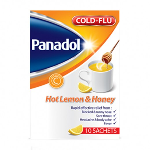 Panadol Hot Lemon & Honey Cold + Flu 10 Sachets