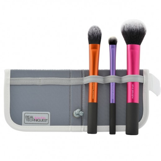 Real Techniques Travel Essentials 2.0 Makeup Brush Set Of 3 RT-1400
