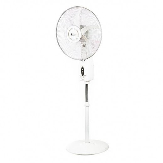 Sayona 18 Rechargeable Oscillating Fan with 6 LED Lights SRF-6113-18