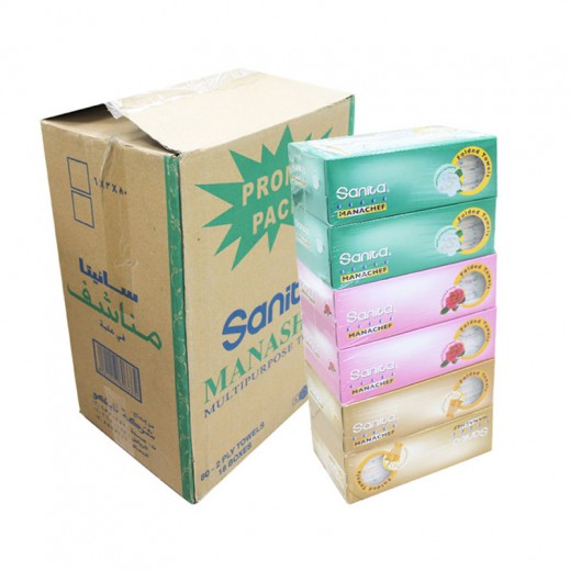 Wholesale - Sanita Manachef Perfumed Tissues (18 pieces)