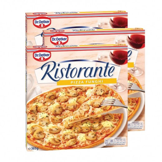 Value Pack - Dr. Oetker - Ristorante Funghi Pizza 365 g (3 Pieces)