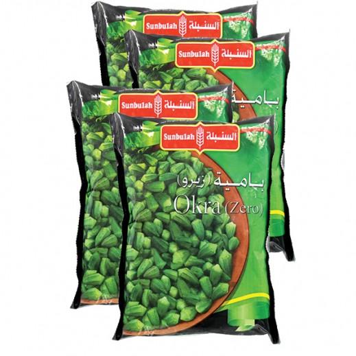 Value Pack - Sunbulah Frozen Zero Okra 400 g (4 Pieces)
