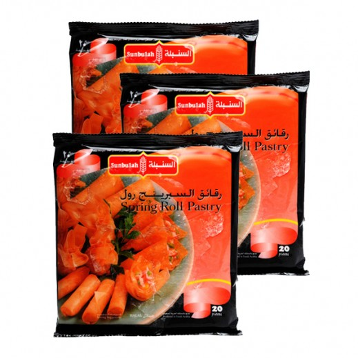 Value Pack - Sunbulah Spring Roll Pastry 345 g (3 Pieces)