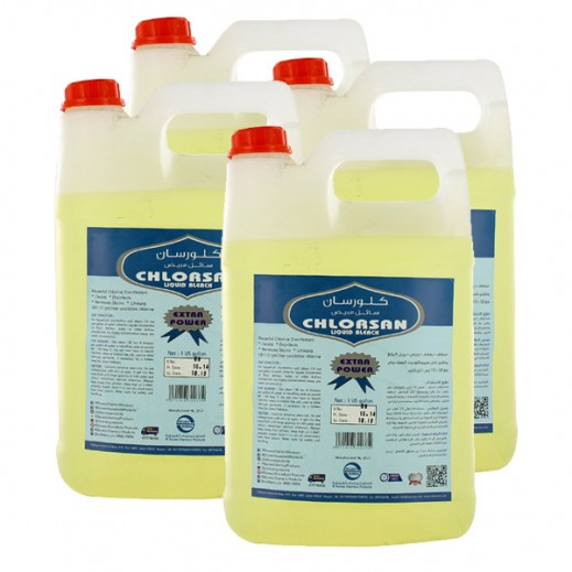 Value Pack - Chlorsan Liquid Bleach 1 Gallon (4 Pieces)