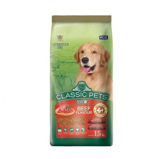 Classic Pets Adult Dog Food Beef Flavour 15 kg