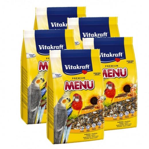 Wholesale - VitaKraft ( Bird Food ) Menu Honey Food Cocktiel 1 kg (5 Pieces)