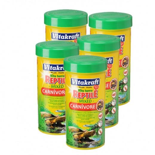 Wholesale - VitaKraft Vita Terra Reptile Mixed For Carnivorous Turtles 250 ml (5 Pieces)