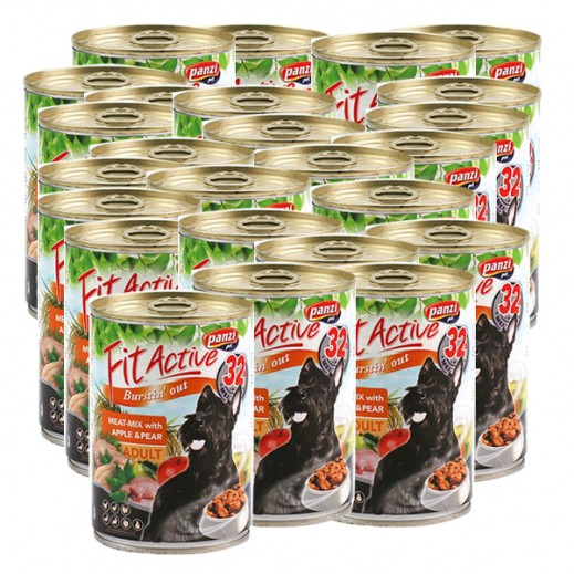 Wholesale – Panzi Fit Active (Adult) Dog Food Meat with Apple & Pear 415 g (24 Pieces)