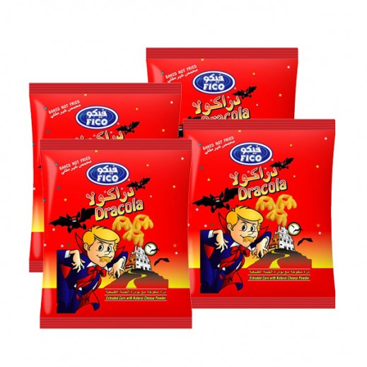 Fico Dracola Corn with Natural Cheese 30 g (4 Pieces)
