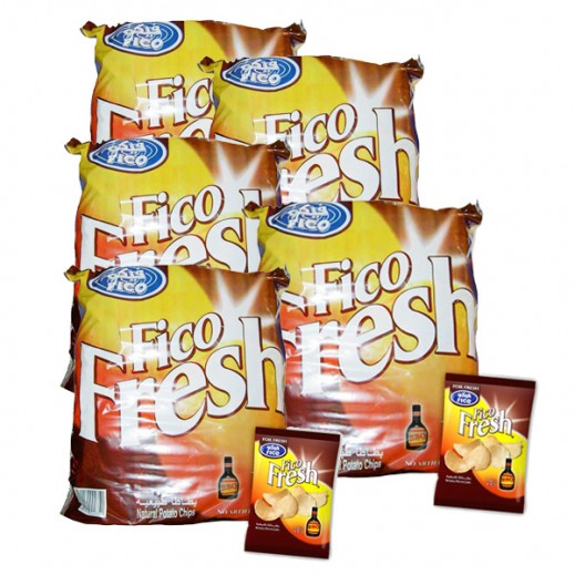 Fico Fresh B.B.Q Chips 20 Pieces X 16 g (5 Pakcs)