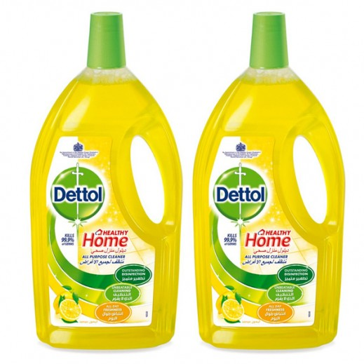 Dettol Lemon Healthy Home All- Purpose Cleaner 2 x 1.8 L