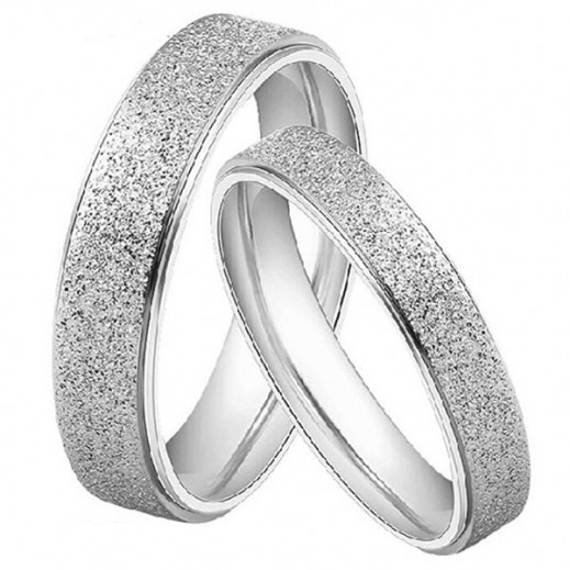 Lousio Lovers Gift Titanium Stainless Steel Couple Rings M01362