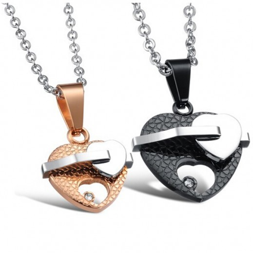 Lousio Lovers Gift Titanium Stainless Steel Couple Necklaces M01381