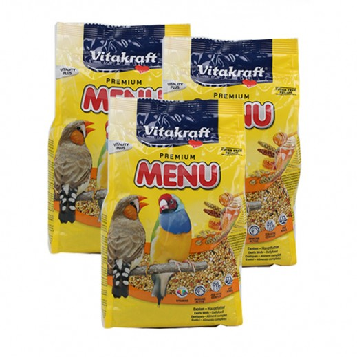 VitaKraft ( Bird Food) Menu Exotis 500 g (3 Pieces)