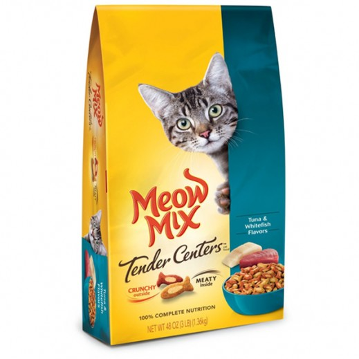 Meow Mix Tender Centers Tuna & Whitefish (Cat Food) 1.36 kg