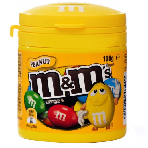 M&M Peanut Canister 100 g