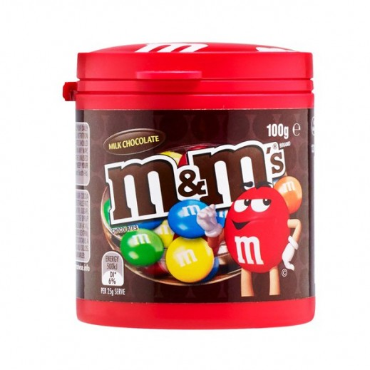 M&M Milk Chocolate Canister 100 g