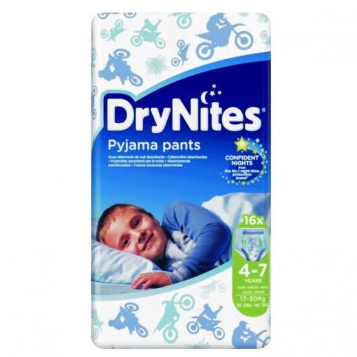 Drynites Pyjama Pants Boys Age (4-7 Years) 17-30 kg 16 Pieces