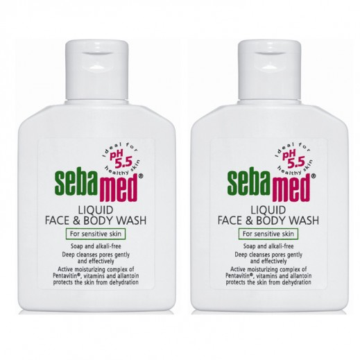 Sebamed Liquid Face & Body Wash 2 × 200 ml