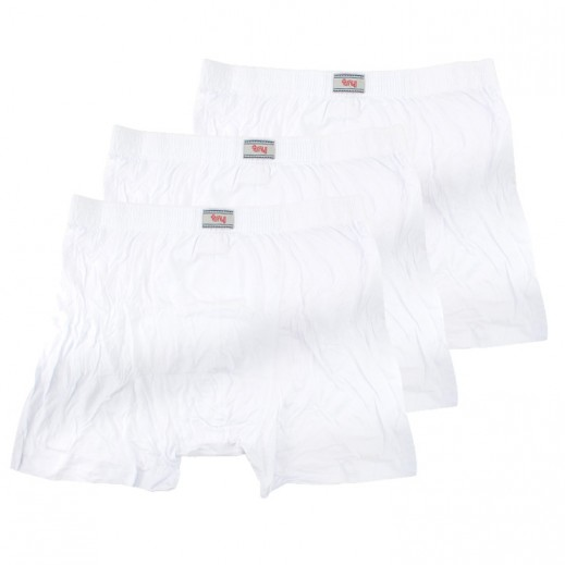 Try Underwear Men's Boxer Shorts White M - XXL (3 Pieces)