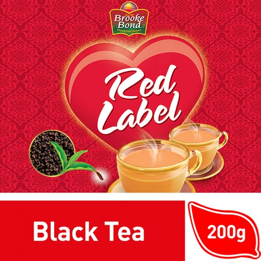 Wholesale - Brooke Bond Red Label Black Tea Loose 200 g (4 Pieces)