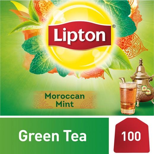 Wholesale - Lipton Green Moroccan Mint Tea 100 Bags (2 Pieces)