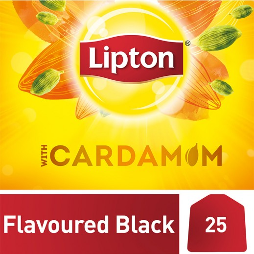 Lipton Flavored Black Tea Cardamom 25 Tea Bags
