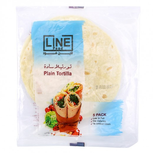 Line Food Plain Tortilla Bread 200 g (5 Pieces)