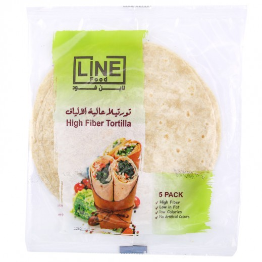 Line Food High Fiber Tortilla Bread 200 g (5 Pieces)