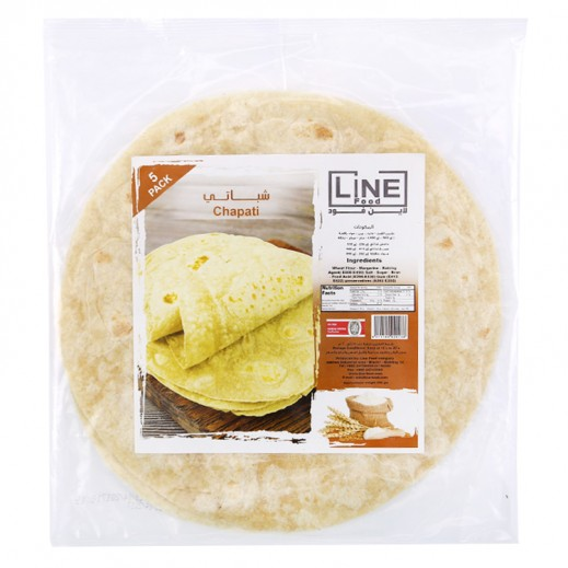 Line Food Chapatti Bread 200 g (5 Pieces)