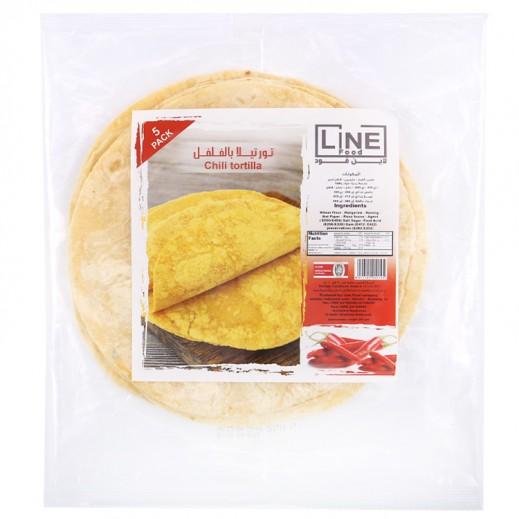Line Food Chili Tortilla Bread 200 g (5 Pieces)
