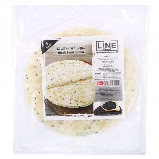 Line Food Black seed Tortilla Bread 200 g (5 Pieces)