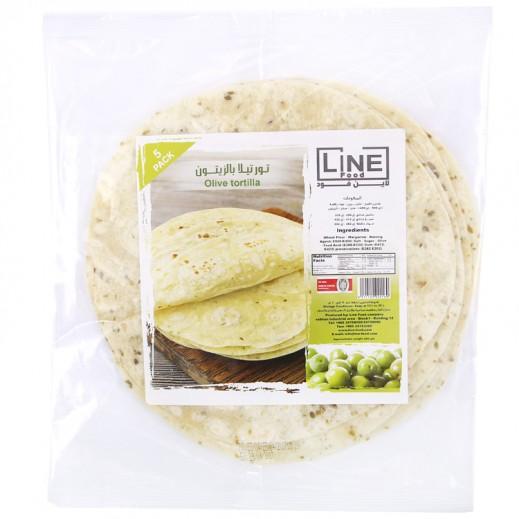 Line Food Olive Tortilla Bread 200 g (5 Pieces)
