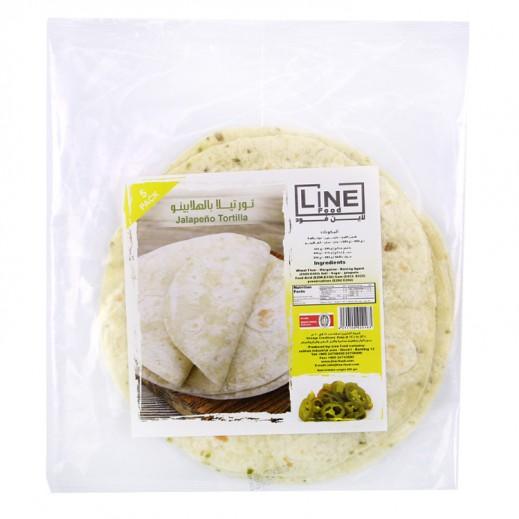 Line Food Jalapeno Tortilla Bread 200 g (5 Pieces)