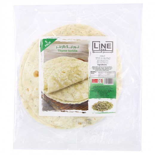 Line Food Thyme Tortilla Bread 200 g (5 Pieces)