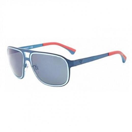 89bf86a1d4f0 Buy Emporio Armani Men Blue Metal/Blue Mirror Sunglasses EAR ...