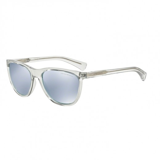 Emporio Armani Crystal/Blue White Mirror Unisex Sunglasses EAR 4053 5371 6J 57 mm