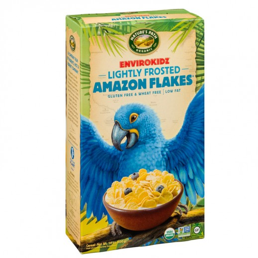 Natures Path Organic Lightly Frosted Amzon Flakes 400 g
