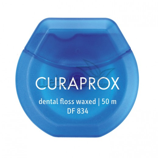 Curaprox Dental Floss Waxed With Mint Flavour DF 834 50 m
