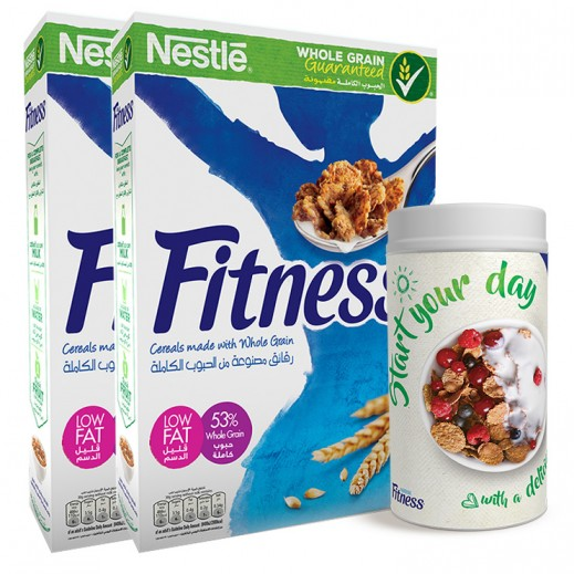 Fitness Cereals 2x375 g + Free Canister