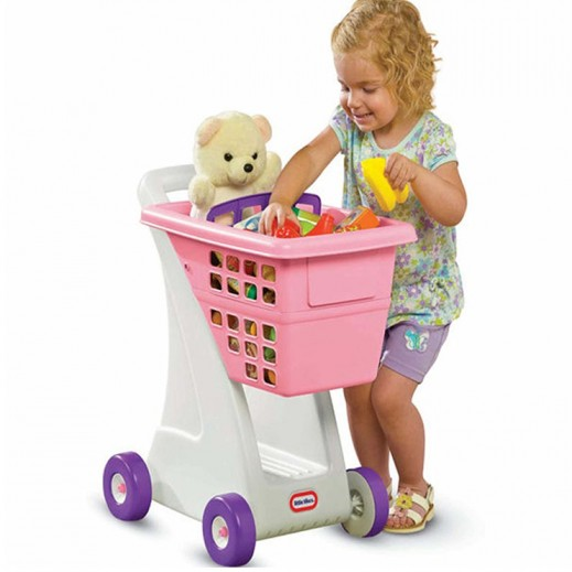 Little Tikes Pink Role Play Shopping Cart