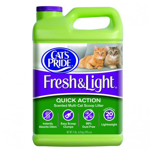 Cats Pride Fresh & Light Fragrance Free Multi Cat Scoop Litter 6.8 kg